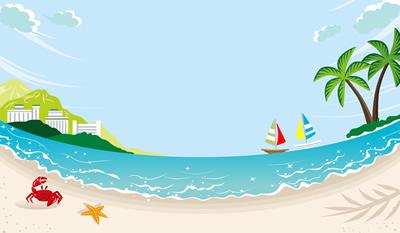 夏の海の光景